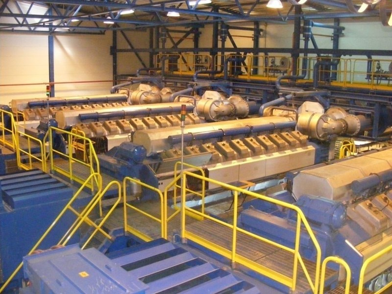 Wartsila 35 MW Natural Gas CHP Plant - 4 x 20V34SG + HRC Steam