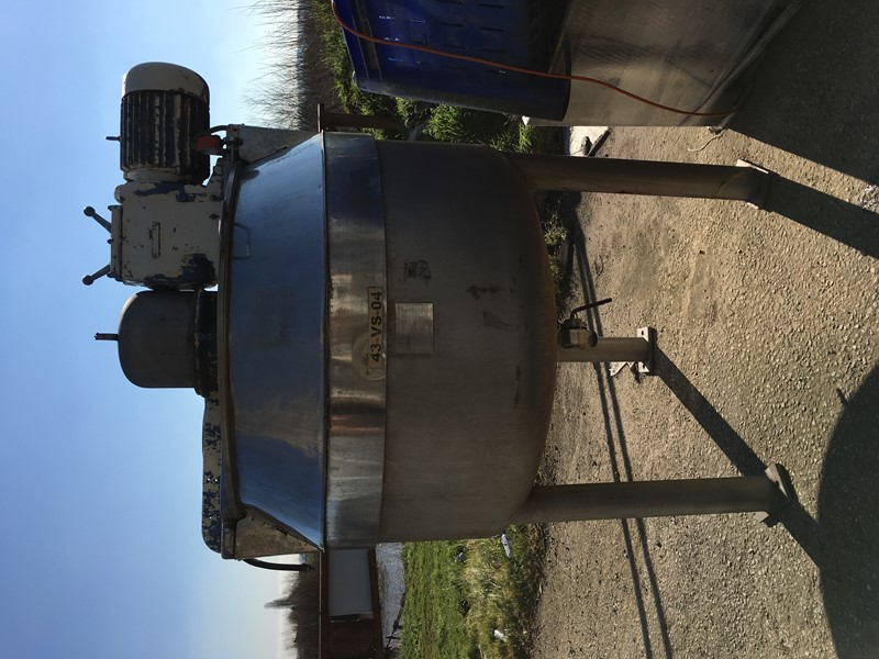 Cooking Vessels BCH 500L stainless jacketed cooking vessel