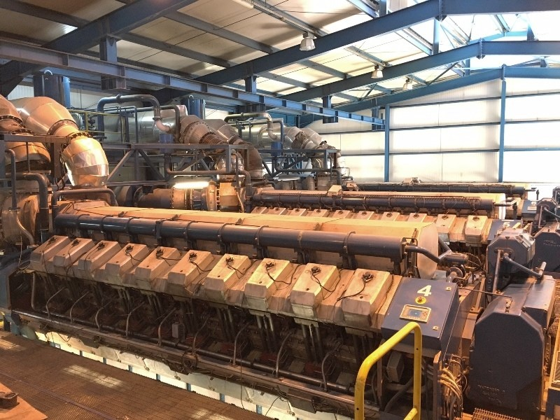 Wartsila 52 MW 6 x 20V34SG - CHP Plant with Gas Generators