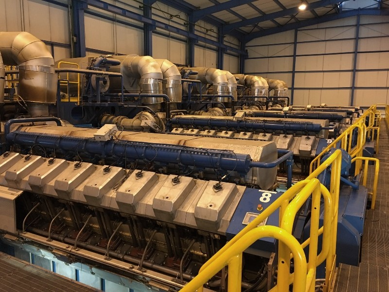 Wartsila 41 MW 6 x 16V34SG - Single Cycle Power Plant with Gas Generators