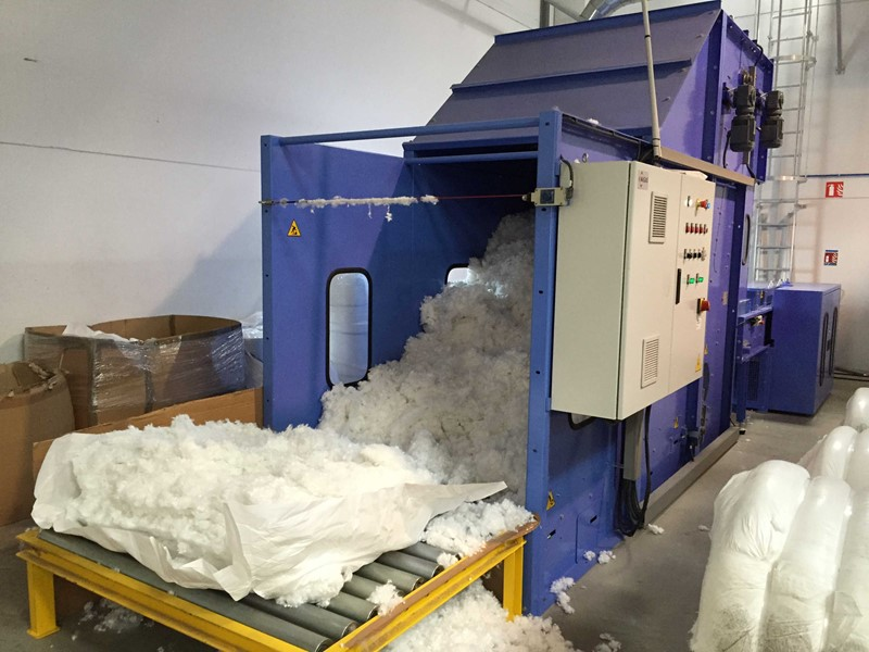 The latest machine from Pillow & Quilt Manufacturing