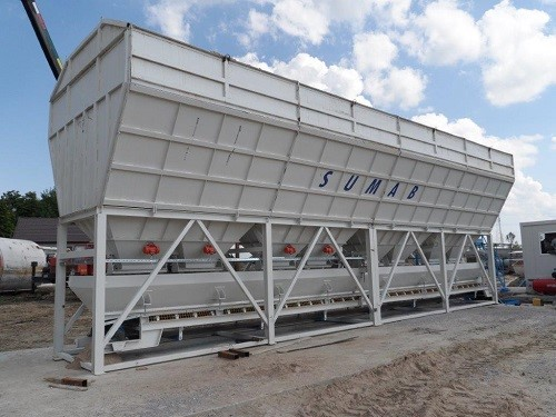 SUMAB - STATIONARY concrete mixing plant T-80