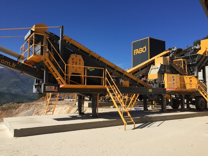 FABO - MTK-100 MOBILE CRUSHER AND SCREENING PLANT