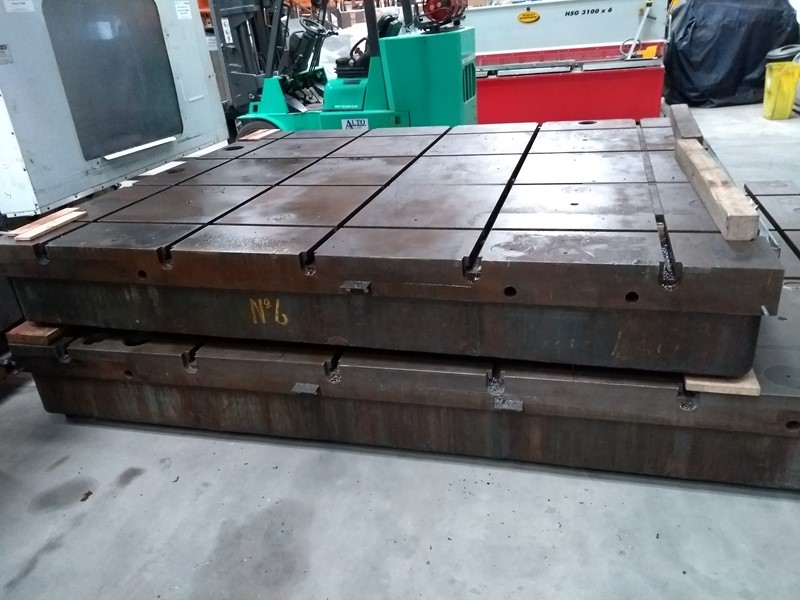T Slot bed plates - 3050 x 2540