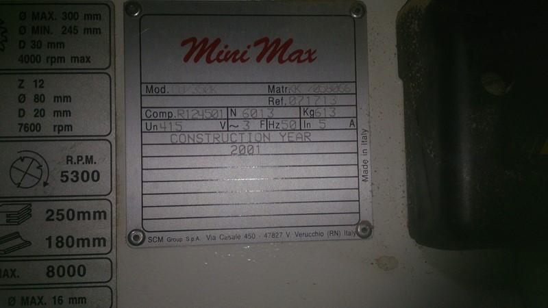 Combination Machines SCM MINIMAX CU 350K for sale