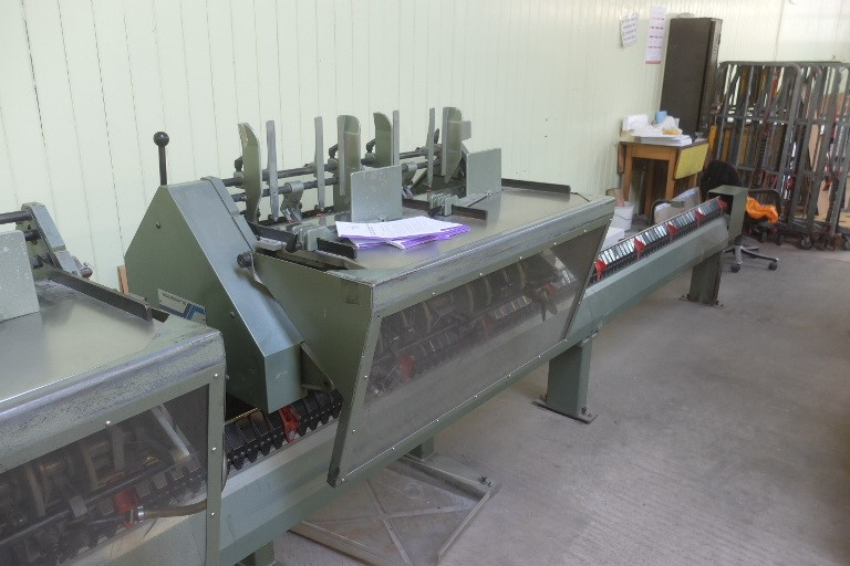 The latest machine from Saddle Stitchers