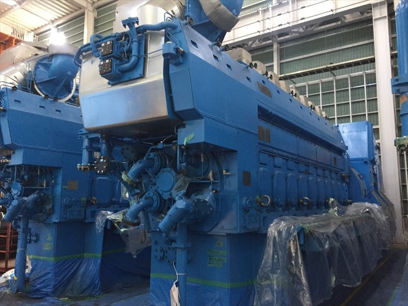 Diesel Generators 2 x 4.2 MW Rolls Royce - Never installed, MDO & LDO