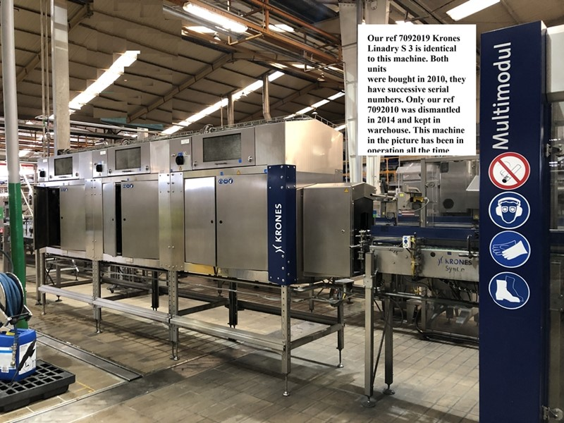 Bottle Drier 70 000 bph - Krones Linadry S, 3 modules