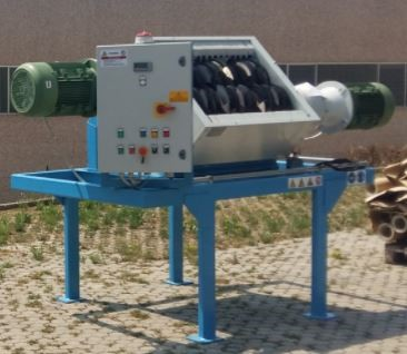 MADE IN ITALY - DOUBLE SHAFT SHREDDER- multipurpose 2×11 kw 850 mm.